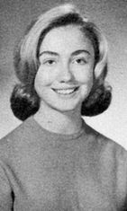 1965: Portrait of Hillary Rodham Clinton as a high school student at Maine East High School, Park Ridge, Illnois, 1965.