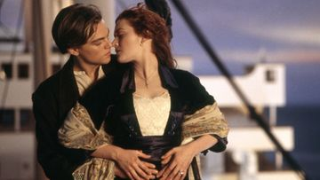 Leonardo DiCaprio ja Kate Winslet tähdittivät elokuvaa Titanic.