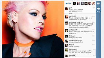 7.8.2012: Pink paljasti Twitterissä olevansa Covergirl-kosmetiikkamerkin uusi keulakuva.