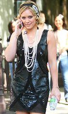 Hilary Duff Gossip Girl -sarjan kuvauksissa
