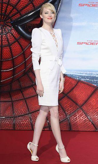Näyttelijä Emma Stone uuden Spiderman-elokuvan ensi-illassa Berliinissä, Saksassa.