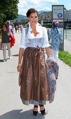 Kutsuvieras Teri Hatcher Itävallassa klassisen musiikin festivaaleilla vuonna 2012.