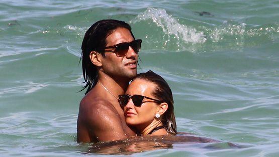 Radamel Falcao ja vaimo Lorelei Dahiana Taron