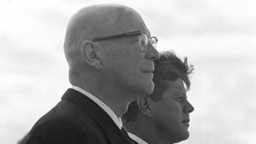 Yhdysvaltain presidentti John F. Kennedy ja Suomen presidentti Urho Kekkonen