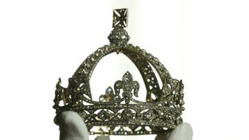 Queen Victoria's Small Diamond Crown from 1870 is displayed to the media at The Queen's Gallery, Buckingham Palace on May 15, 2012 in London, England.