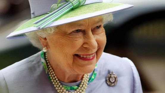 Queen Elizabeth II attends a dinner with The Argyll and Sutherland Highlanders, 5th Battalion The Royal Regiment of Scotland at the Caledonian Club on May 30, 2012 in London, England.