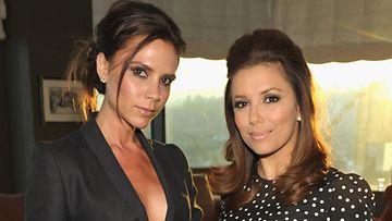 Victoria Beckham ja Eva Longoria ovat hyvät ystävät.