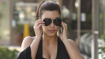 Kim Kardashian menossa kuntosalille.