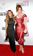 Sarah Jessica Parker ja Christina Hendricks.