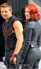 Scarlett Johansson näyttelee Mustaa Leskeä The Avengers-elokuvassa.