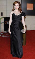 Christina Hendricks BAFTA-gaalassa 12.2.2012