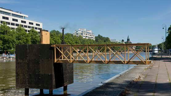 Hot Cube -saunaan voi tutustua kulttuuripääkaupunki Turussa.