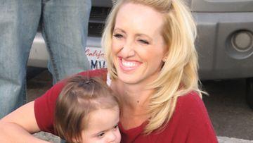 Jenny Masche tyttärensä kanssa.