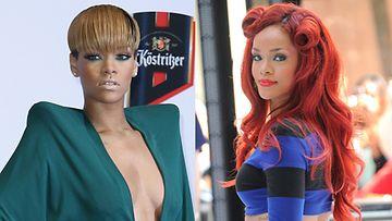 Rihanna uskaltaa kokeilla eri lookeja.
