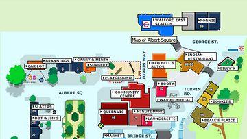 EastEndersin kartta.