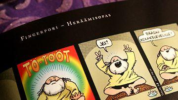 Pertti Jarlan Fingerpori-Heräämisopas. Kuva: Maria Aarnio