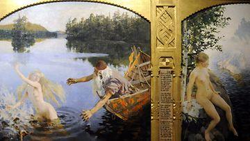 Aleksi Gallen-Kallelan triptyykki Aino-taru (1891).