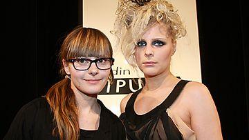 Olga Sjöroos ja malli Liis. Kuva: MTV3.