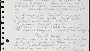 Janis Joplinin kirje poikaystävälleen Peterille. Kirje on huutokaupattu Music Rising -kampanjassa.