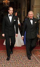 Cambridgen herttua, prinssi William ja prinssi Charles