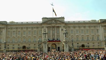 Buckinghamin palatsin parveke