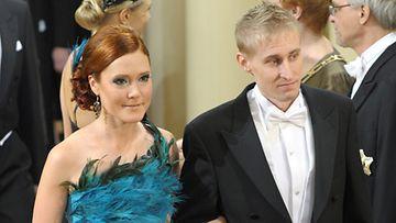 Suunnistajat Anni-Maija Fincke ja Jarkko Huovila