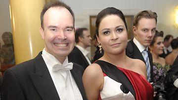 Peter Vesterbacka ja vaimo Teija