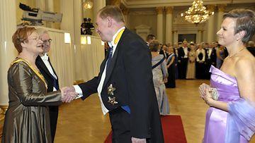 Paavo Lipponen ja vaimo Päivi
