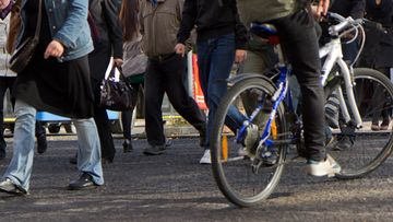 pyöräilijä