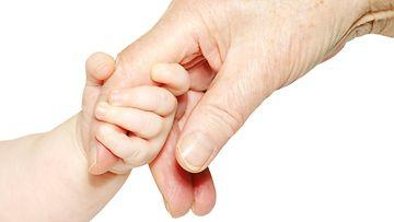 3. Vauvan ja aikuisen käsi