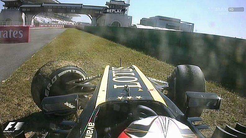 Kimi Räikkönen ajoi ulos Korean GP:n ensimmäisissä harjoituksissa.