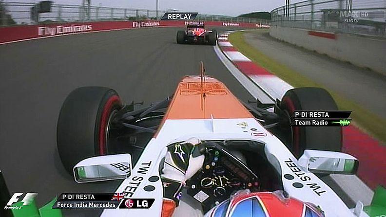 Paul Di Resta jäi Jules Bianchin taakse aika-ajossa.