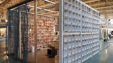 Ranskalaisen Martin Tubianan Paperbox on osa Pavillion Re-made -näyttelyä.