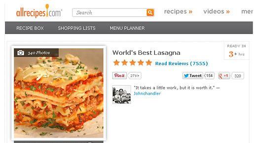 Screen capture: Allrecipes.com