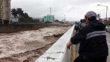 Huacapa river in Chilpancingo, Mexico, 16 September 2013