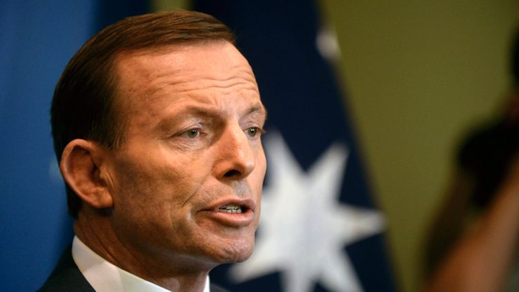 Australian opposition leader and leader of the Liberal Party, Tony Abbott speaks during a press conference in Brisbane, Australia, 14 August 2013.