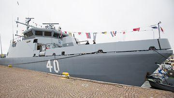 Katanpää miinantorjunta-alus Katajanokalla Helsingissä, jossa vietettiin merivoimien vuosipäivää 9. heinäkuuta 2012.
