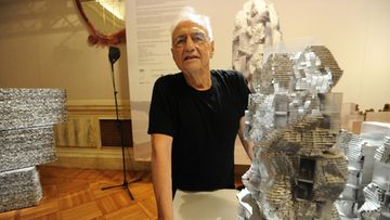 US-Canadian architect Frank Gehry presents Luma, Parc des Ateliers project for Arles, France, at a preview of Venice Architecture Biennale in Venice, Italy, 25 August 2010.