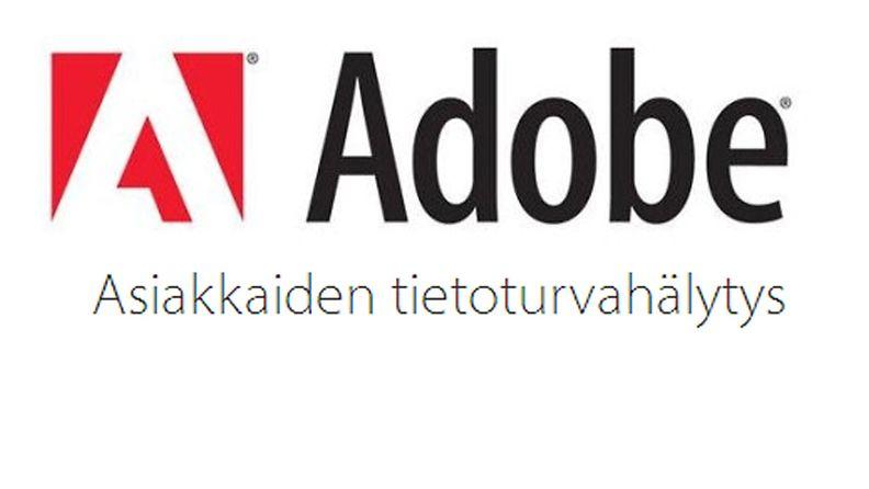 Adobe tietoturvahälytys