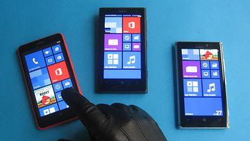 Lumia 625, 925 ja 1020 -kännykkämallit.