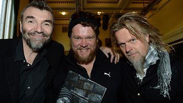 Kauko Röyhkä, Ville Haapasalo ja Juha Metso.