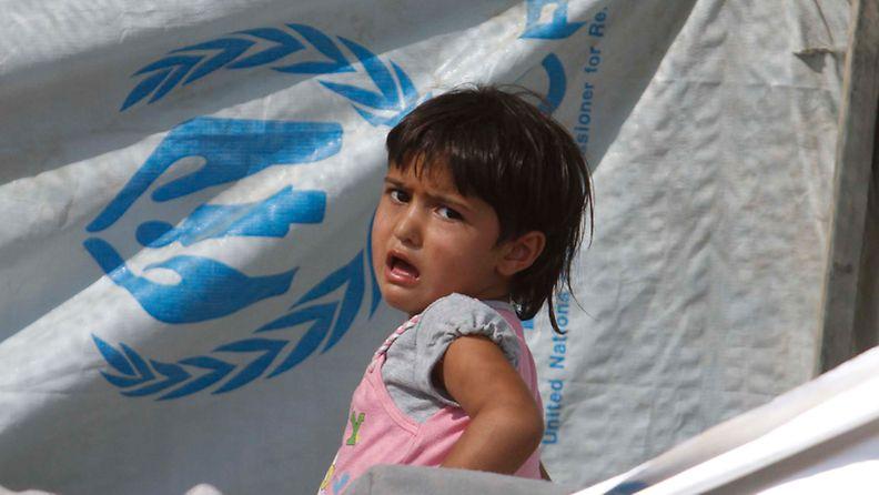 Jordaniaan pakolaisleirille paennut syyrialainen lapsi 17.7.2012.