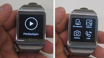 Samsung Galaxy Gear pyörittää useita erilaisia sovelluksia, ja lisää on tulossa. Esimerkiksi mediaohjaimen avulla pystyy hallitsemaan kännykässä olevaa musiikkia kätevästi vaikkapa lenkkeillessä.
