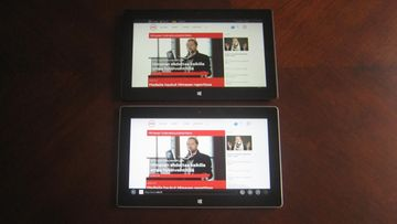 Surface Pro 2 (ylempi) ja Surface 2