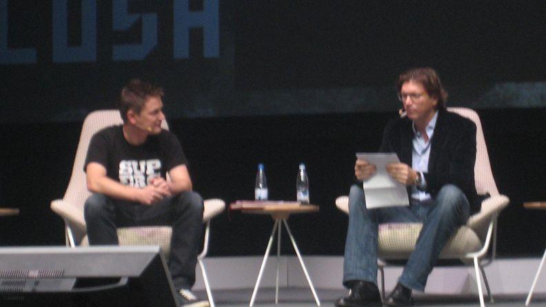 Supercellin Ilkka Paanen ja Skypen perustajajäsen Niklas Zennström.