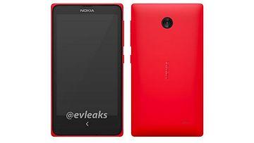 """Nokian väitetty Android-puhelin, """"Normandy"""". Kuvakaappaus: Twitter/ @evleaks"""