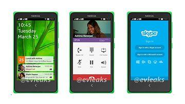 """Väitetty Nokia Android-puhelin: """"Normandy"""". Kuvakaappaus @evleaks -tililtä Twitteristä"""