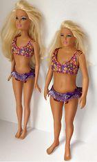 Nickolay Lamm muokkasi Barbiesta oikean naisen näköisen. Kuvassa perinteinen Barbie-nukke ja Barbie tavallisen naisen mitoissa.