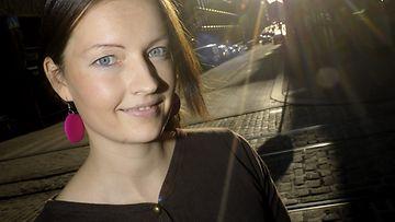 Basam Booksin esikoiskirjailija Heidi Kuusisto 9. marraskuuta 2012.
