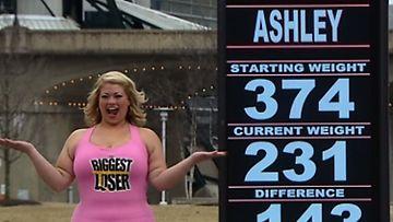 Suurin pudottaja: Kotiinpaluu. Ashley